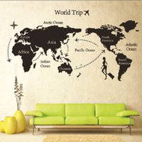 ac graphics - Globle World Trip Map Quote DIY Art Vinyl Wall Sticker Decal Mural Home Decor AC