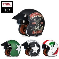 half face helmet - Brand New Vintage helmet TORC retro motorcycle helmet for chopper bikes for Harley bikes motorcycle helmet
