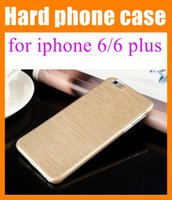 mobile phone crystal hard case - for iphone iPhone plus Hard Crystal Plastic wire drawing process case Mobile phone Case Cover Protective Shell pk slim Armor Case SCA018