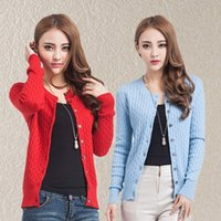 cashmere sweater - Cashmere Cardigan For Women Girls Twisting Style Knitting Outwear Spring Autumn Style Fashion Casual Sweater Cardigan D009