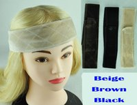 Wholesale Flexible Velvet Wig Grip Scarf Head Band Adjustable Fastern Wig Beige Brown Black
