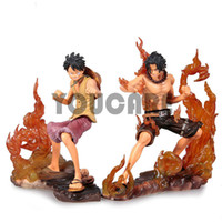 Wholesale Japanese Anime Figures One Piece DX Brotherhood figures Luffy Ace Figures set of PVC CM Heigh
