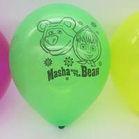 Wholesale 10inch masha and the bear party latex balloon