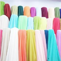 Wholesale 24 Color M Polyster Chiffon Fabric DIY Georgette Curtain Silky Soft Fabrics for Wedding Drape Decoration Hot Sale ch
