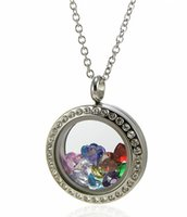 Lockets glass lockets - Water Proof locket mm mm mm crystal L stainless steel screw locket glass memory locket