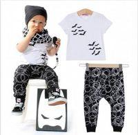 cotton batting - Newborn Months Baby Boy s Clothes Bat Print T shirt Pants Outfits Set hight quality