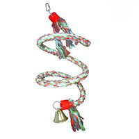 Wholesale Climb cotton rope swing parrot toys for medium and big birds training tools