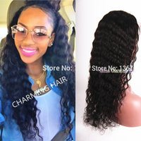 natural color best knots - 2015 Best Deep Wave Lace Front Wigs Full Lace Virgin Peruvian Deep Wave Wigs Human Hair Wigs With Baby Hair Bleached Knots