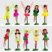 tinkerbell - Tinkerbell Fairy Dolls Tinker Bell PVC Figures Toys for Children Girls Toys Gifts cm set EMS