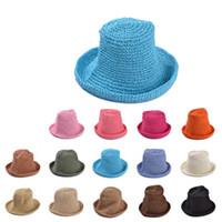 Cheap Wholesale-2015 New Korea Stylenanda beach sun hat handmade Japanese female summer straw hat