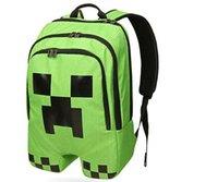 Wholesale Minecraft creeper backpack Game My World Children School Bags Kids Boys Mochila Double Shoulder Bag Block Coolie Strange