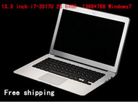 Wholesale 13 Inch i7 laptop Notebook with Intel i7 U Dual core Ghz CPU G G SSD Resolution WIN7 OS HDMI WIFI C16