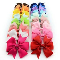 Wholesale Girls Hair Accessories Baby Grosgrain Ribbon Pinwheel Hair Bows Boutique HairBows Cute Hairclips for Headband