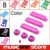 Wholesale 11 Colour Guitar Single Coil Pickup Cover with volume Tone Knobs Switch Tip MU1234
