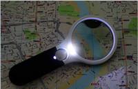 lupas 3x Luz Portátil Iluminado lupa de bolsillo LED con múltiples funciones de lupa Gafas EGS_139