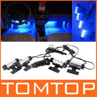 Wholesale Fashion x LED Blue Car Auto Charge interior light in1 V Glow Decorative Atmosphere Lights Lamp Drop Shipping