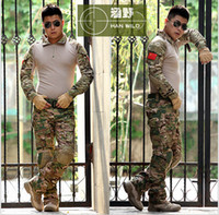 Cheap Tactical army GEN 3 Battle Suit Shirt Pants Assault military camouflage uniform US G.I Issue Frog Airsoft PTrousers multicam militar with De