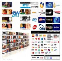 al por mayor digital del servidor-Europa servidor Cccam Cline Sat SD / HD paquete SKY Reino Unido SKY SKY ITALIA DE CANAL + DIGITAL + Euro por 1 año