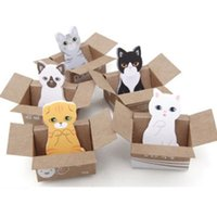 Wholesale kawaii cat mini paper sticker post itcky notes memo pad material escolar papelaria school supplies sticker