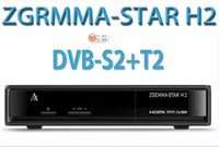 Wholesale 2pcs Best selling product in Italy Zgemma Star H2 Enigma2 Combo DVB S2 T2 C Satellite Receiver with samsung A DVB T Tuner free ship