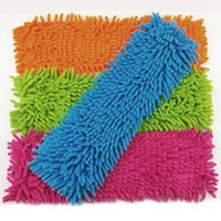 Wholesale 1 Piece Mops Head Floor Cleaning Chenille Mop Head Home Dust Refill Microfiber Top Household Replacement Easy Washing JG0002 salebags