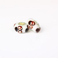 Cheap Mickey Dizney Murano Glass Charm Bead 925 Silver Plated Fashion Women Jewelry European Style For Pandora Bracelet PANMB092