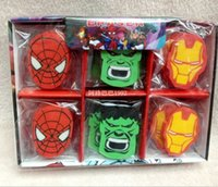 Wholesale LJJD3717 Cartoon Superhero removable Erasers cartoon kids eraser students eraser Kids Stationery Superhero kids rubber
