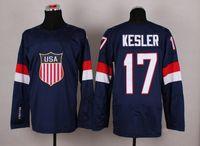 usa hockey jersey - 2014 Sochi Olympic Team USA Hockey Jersey Ryan Kesler Navy Blue Ice Hockey Jerseys