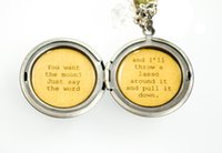 american just - 12pcs You want the moon Just say the word and I ll throw a lasso around it and pull it down Women s Quote Locket