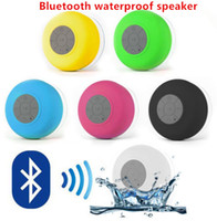 car subwoofer car audio - Mini Portable Waterproof Wireless Bluetooth Handsfree Mic Suction Shower Speaker Car Stereo colorful Black White Blue Green