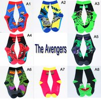 Retail superman HOT The Avengers flash batman Hulk spider-man Fans Film Skateboarding Sport Chaussettes S012