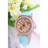 american direct fashion watches - Influx of people must fashion new audience tinted glass factory direct shipping Leather quartz watch European and American fashion female fo