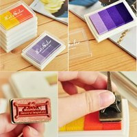 arts and crafts rubber stamps - 1PCS Color Ink Pad Oil Based DIY Craft And Drawing Art Rubber Stamps Set