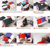 Wholesale EMS Pieces Best Paper Pencil Box Case Holder DIY South Korean Style Desktop Storage Box