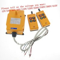 Wholesale 2 Tansmitters Channels Speed Control Hoist Crane Radio Remote Control System order lt no track
