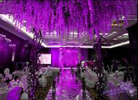Atacado - Seda artificial Flor Flor Artificial Wisteria Vinha de Vime Para o Dia dos Namorados em Casa Garden Hotel de Decoração de Casamento