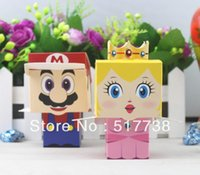 Wholesale Super Mario Candy Boxes - FREE SHIPPING 100pcs 3D Super Mario Wedding Favor Boxes gift box candy box
