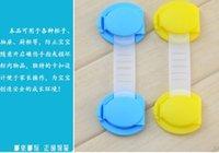 baby door locks price - cm Bendy Door Drawer Safety Lock Children Baby Safety Lock Blue Yellow can choose Low Price Z1062