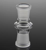 Bon Marché Les ventes de verre bong-Vente chaude taille standard mix joint 14 adaptateur 18 femmes en verre de convertisseur de jonction femelle pour le verre de pipe à eau en verre bong livraison gratuite