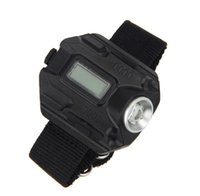 signal cable - Black Wrist LED Flashlight Rechargeable Aluminium Alloy Torch with USB Cable Wristlight SOS Distress Signal JY020063