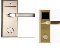Wholesale EMS Free styles RFID Hotel Door Lock Can Open By Card And Keys With SoftWare New Fashion