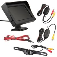 Wholesale Car Rearview Camera LED Wireless Transmitter Receiver quot LCD Monitor Car Electronics Rear View Camera