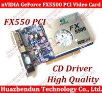 Wholesale NEW nVIDIA GeForce FX5500 MB bit DDR VGA DVI PCI Video Card with CD Driver