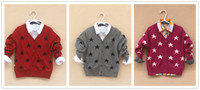 Wholesale baby kids cardigans girls Sweaters Shirts baby boys girls knitted wool sweater child clothing cashmere coats in sale D1925