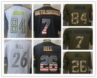bell grey - Factory Outlet Men s Ben Roethlisberger Le Veon Bell USA Flag Pro Bowl Strobe Limited Salute To Service Green Football Jerse