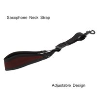 Wholesale Hot Sale Saxophone Accessories Saxophone Sax Neck Strap Cotton Padded Adjustable Design with Hook Clasp New Arrival free shippin