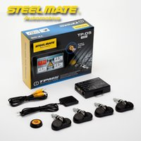 Wholesale Steelmate TP Wireless TPMS In Dash A V Monitor GPS Backup Camera Internal Sensor Tire Pressure Monitoring System Car Styling