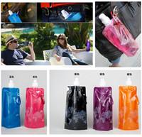 steel water bottles - 2015 Portable Folding Sports water bottle ML Foldable Water Bottle Outdoor Water Bag Hiking Water Bottle R000950