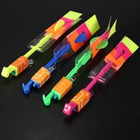 Wholesale 2015 Lowest Price Hot Funny Shining Rocket Flash Copter Arrow Helicopter Neon Led Light