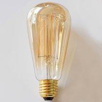 ST64 Ámbar Tinte Led filamento de la bombilla de Dimmable 4W 6W jaula de ardilla antiguo Edison Iluminación E27 B22 E26 Blanco cálido largo filamentos de las lámparas decorativas
